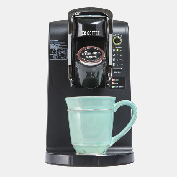 xo coffee brewer brewing coffee